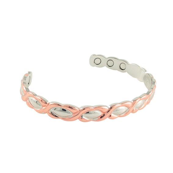 Magnetic Copper XO Bangle rose Gold
