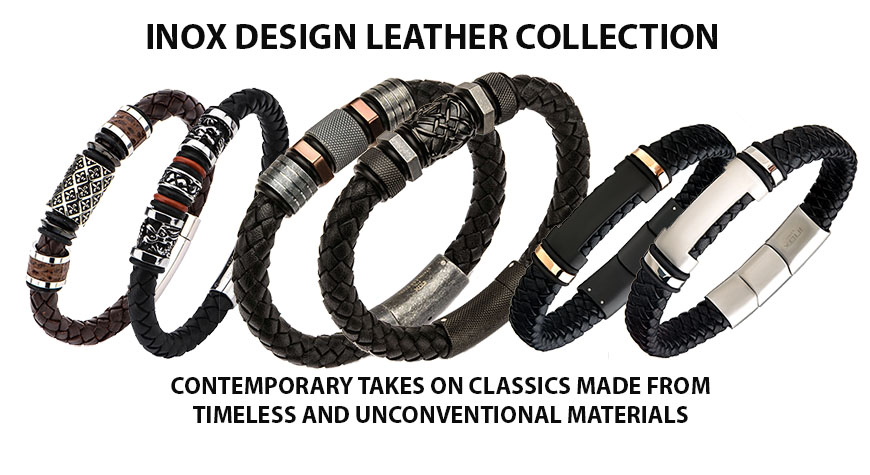 Inox design leather collection. Please call us for special pricing which we cannot advertise sale prices on these items 702 577 7943
